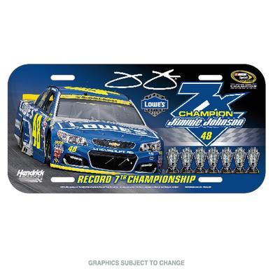 Hendrick Motorsports Jimmie Johnson 2016 NASCAR Sprint Cup Champion License Plate - Plastic