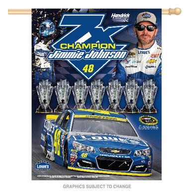"Hendrick Motorsports Jimmie Johnson 2016 NASCAR Sprint Cup Champion Banner Vertical 27"" x 37"""