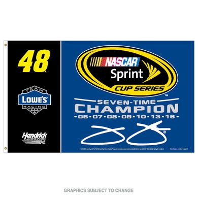 Hendrick Motorsports Jimmie Johnson 2016 NASCAR Sprint Cup Champion Flag 3' x 5'