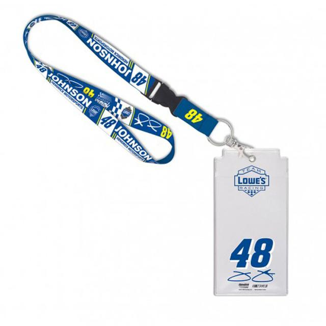 Hendrick Motorsports Jimmie Johnson Credential Holder with Lanyard