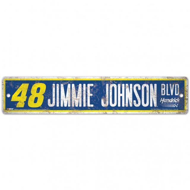 "Hendrick Motorsports Jimmie Johnson Street/Zone Sign - 4.5"" x 17"""