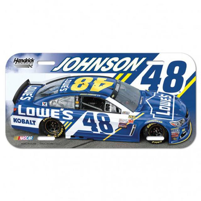 "Hendrick Motorsports Jimmie Johnson License Plate - 6"" x 12"""