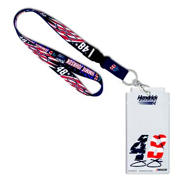 Hendrick Motorsports Jimmie Johnson #48 Patriotic Credential Holder with Lanyard