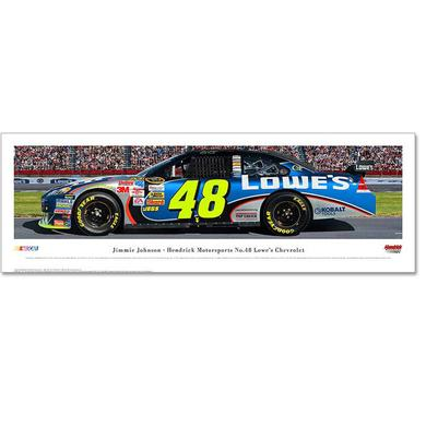 Hendrick Motorsports Jimmie Johnson #48 Panaoramic Photo - Framed