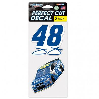 "Hendrick Motorsports Jimmie Johnson Perfect Cut Decal (set of 2) - 4"" x 4"""