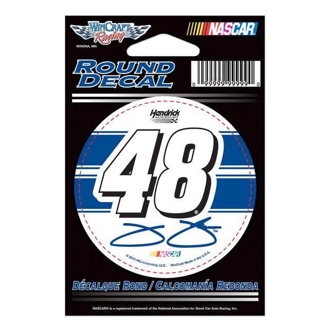 "Hendrick Motorsports Jimmie Johnson-2014 3'"" round decal"