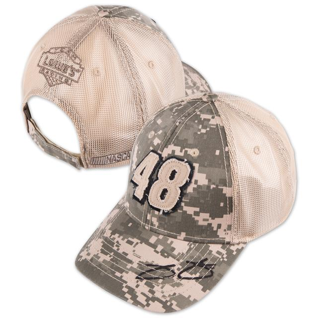 Hendrick Motorsports Jimmie Johnson 2015 Chase Authentics Adult Salute Camo Hat