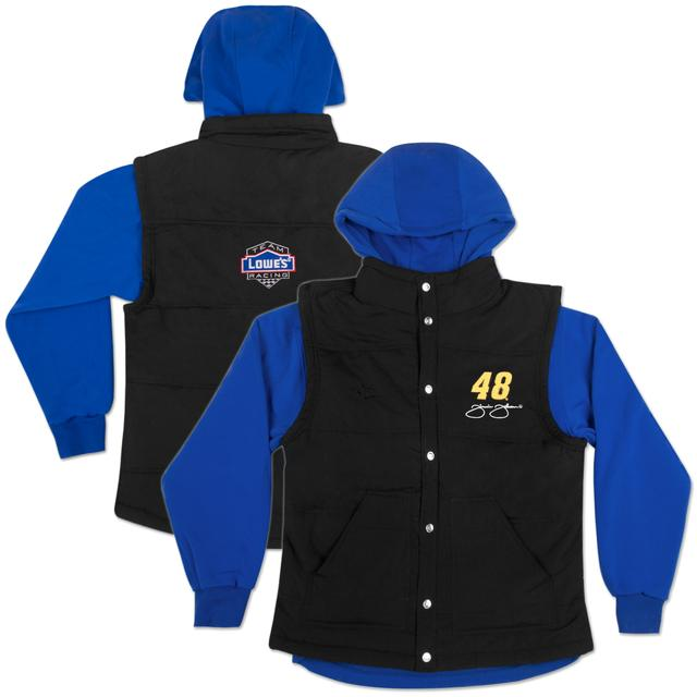 Hendrick Motorsports Jimmie Johnson #48 Lowe's Ladies 3 in 1 Vest Jacket Blue