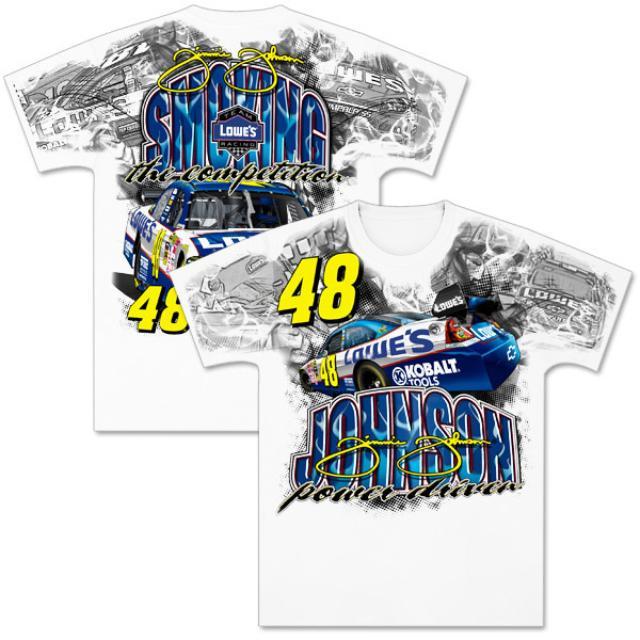 Hendrick Motorsports Jimmie Johnson #48 Lowe's Total Print T-Shirt