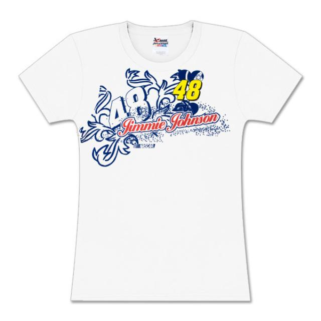 Hendrick Motorsports Jimmie Johnson #48 Girls Coral Racer T-Shirt