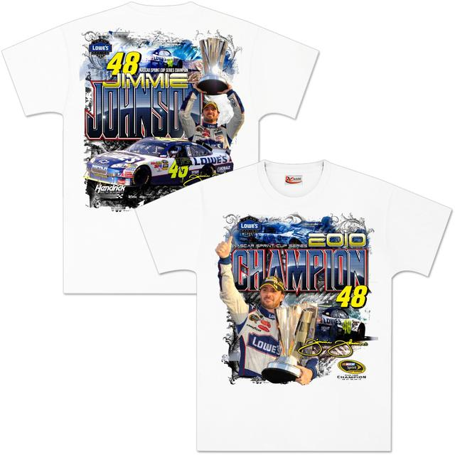 Hendrick Motorsports Jimmie Johnson 2010 Sprint Cup Champ Victory T-Shirt
