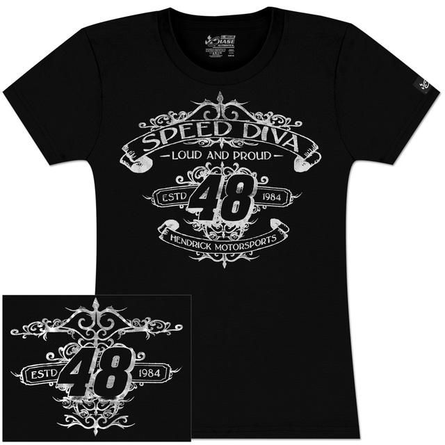 Hendrick Motorsports Jimmie Johnson #48 Ladies Speed Diva T-Shirt