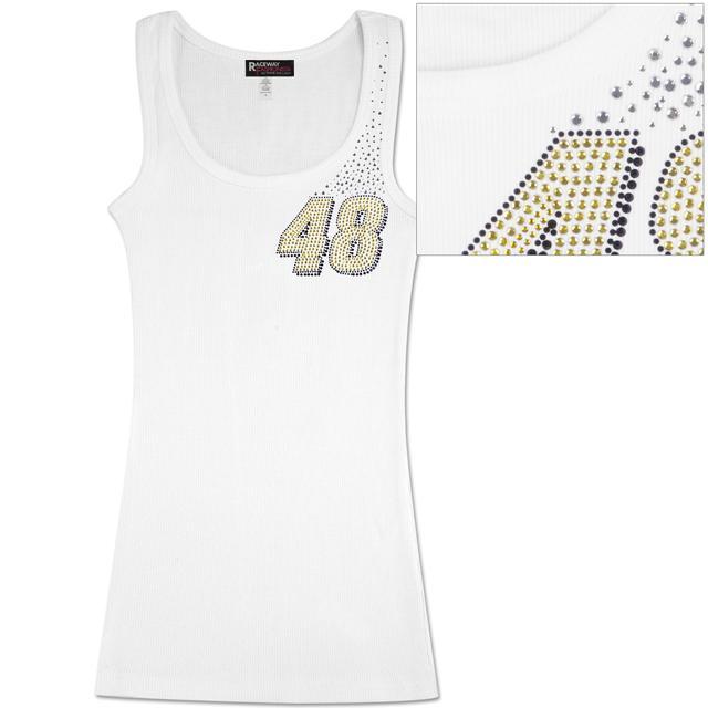 Hendrick Motorsports Jimmie Johnson #48 Wave Ladies Crystal Tank White