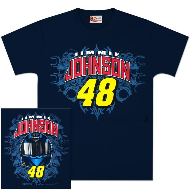 Hendrick Motorsports Jimmie Johnson #48 Lowes Team Graphic T-shirt Blue