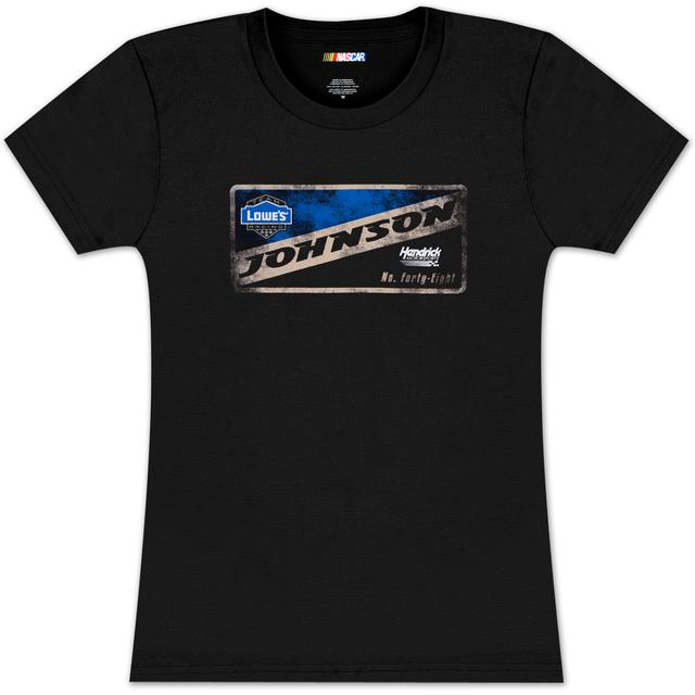 Hendrick Motorsports Jimmie Johnson #48 Lowes Ladies Vintage Sign T-shirt