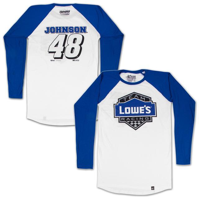 Hendrick Motorsports Jimmie Johnson #48 Lowe's Varsity Baseball Jersey T-shirt