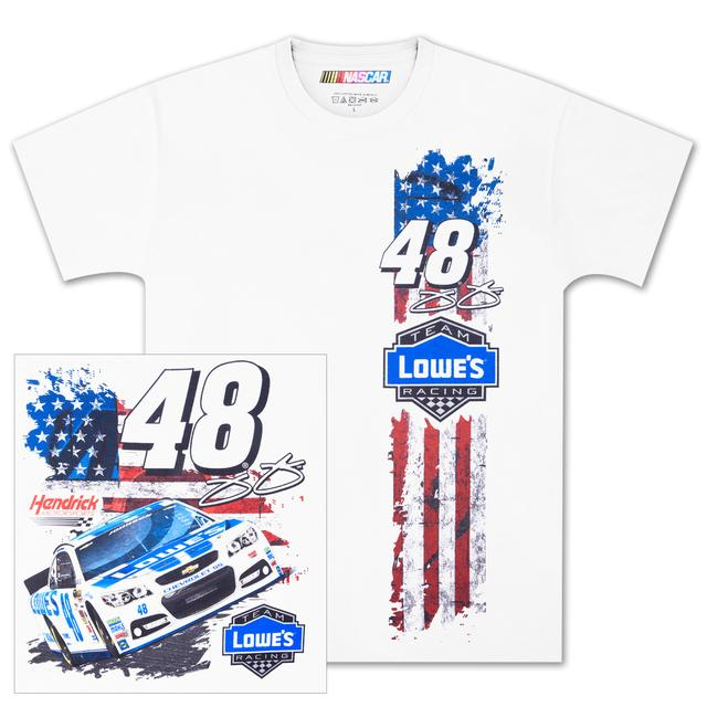 Hendrick Motorsports Jimmie Johnson #48 Flag Stripe T-shirt