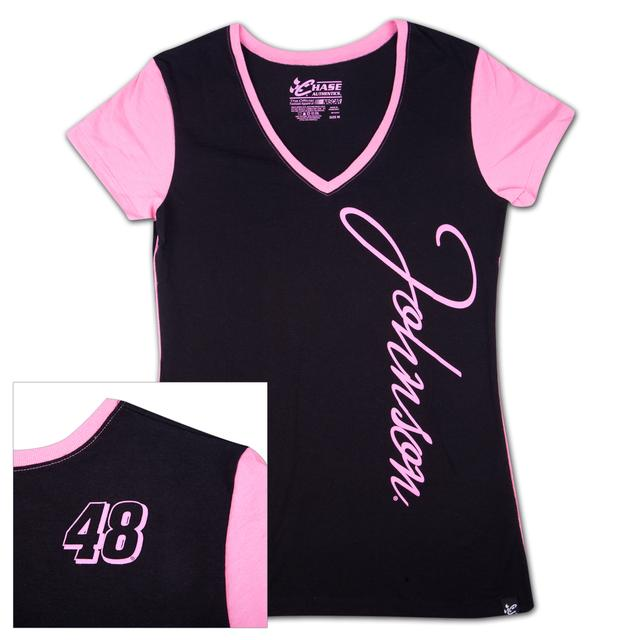 Hendrick Motorsports Jimmie Johnson #48 Ladies Interval V-neck T-shirt