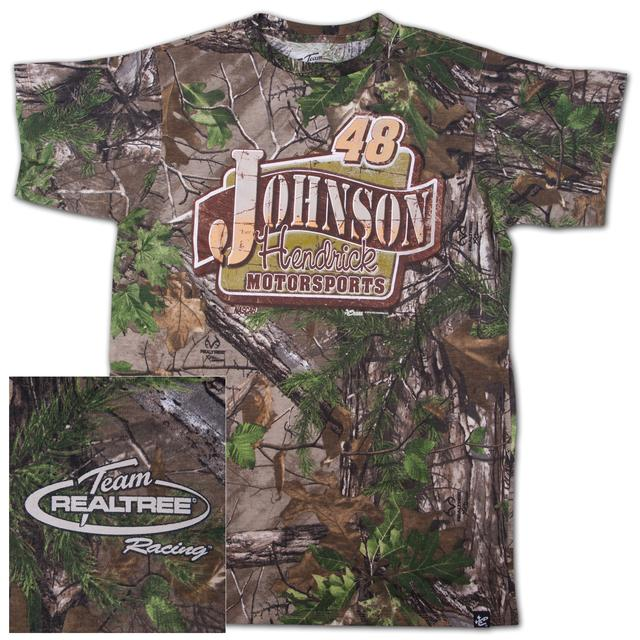 Hendrick Motorsports Jimmie Johnson #48 Realtree Xtra Green Blind T-shirt