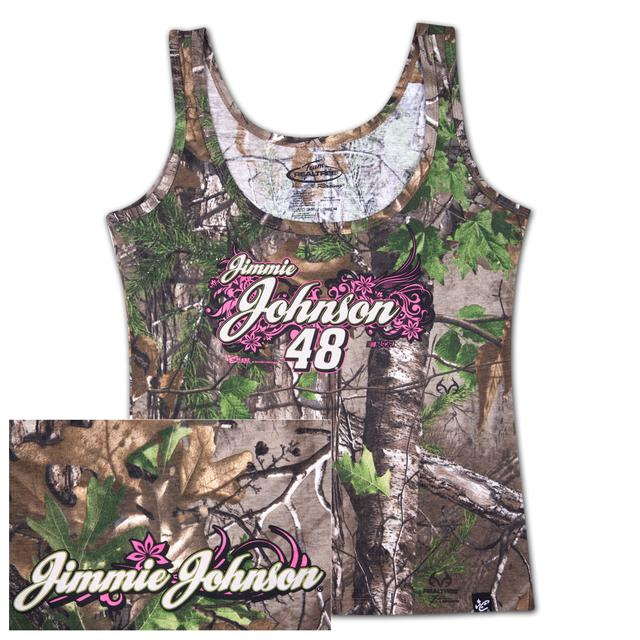 Hendrick Motorsports Jimmie Johnson #48 Ladies Realtree Xtra Green Decoy Tank