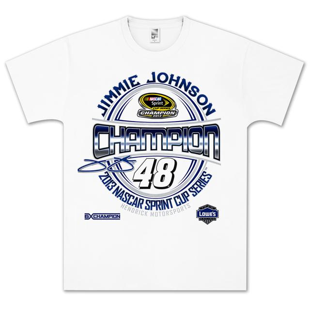 Hendrick Motorsports Jimmie Johnson #48 2013 Sprint Cup Champion Emblem T-shirt