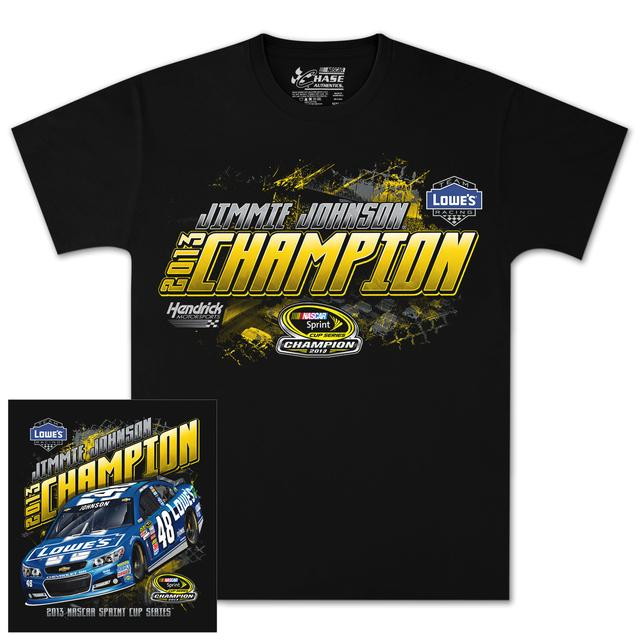 Hendrick Motorsports Jimmie Johnson #48 2013 Sprint Cup Champion T-shirt