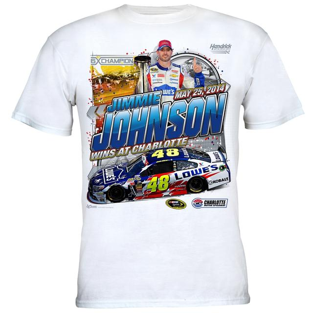 Hendrick Motorsports Jimmie Johnson #48 2014 Coca-Cola 600 Win T-shirt