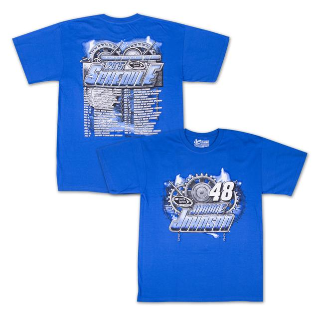 Hendrick Motorsports Jimmie Johnson - Chase Authentics Adult 2015 Schedule Tee