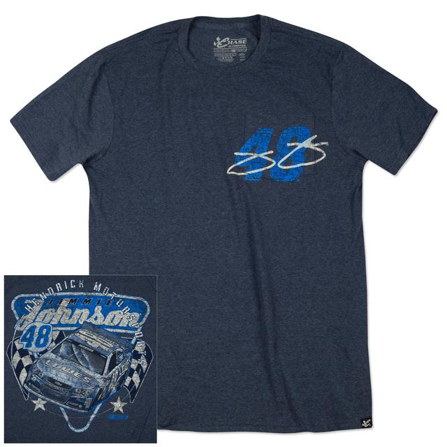 Hendrick Motorsports Jimmie Johnson - 2015 Chase Authentics Adult Vintage Pocket Tee