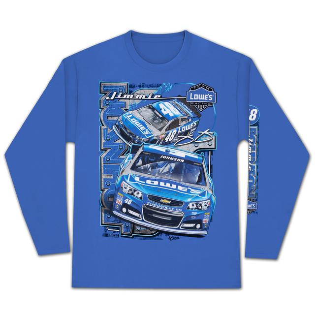 Hendrick Motorsports Jimmie Johnson 2015 Chase Authentics Adult Sheet Metal Longsleeve Tee