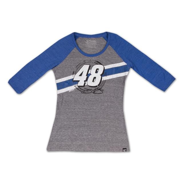 Hendrick Motorsports Jimmie Johnson - 2015 Ladies Track 3/4 Sleeve Tee