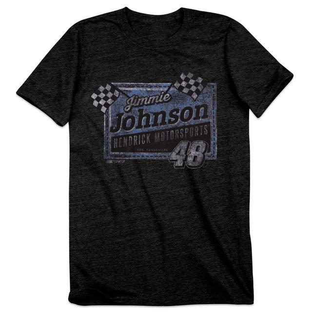 Hendrick Motorsports Jimmie Johnson #48 Men's Vintage Finish Line T-Shirt