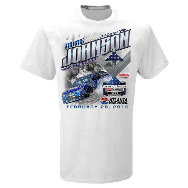 Hendrick Motorsports Jimmie Johnson #48 2016 QUIKTRIP 500 Victory T-shirt