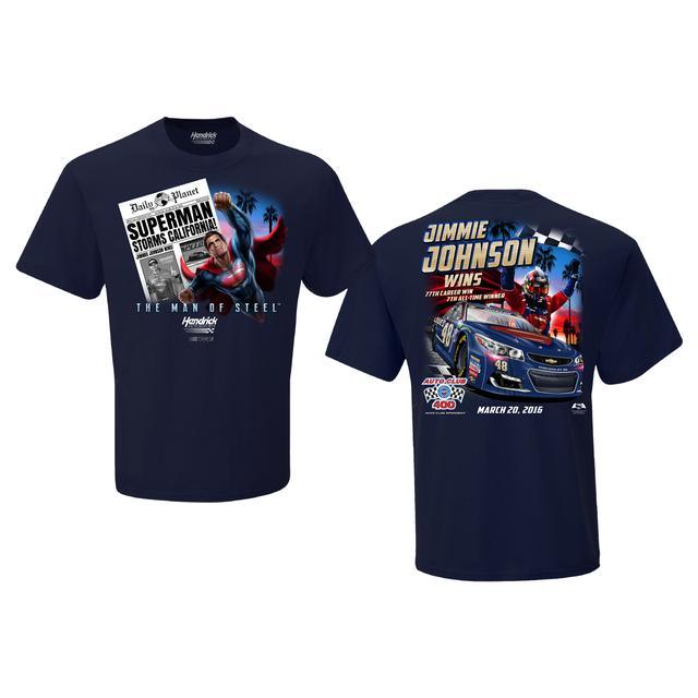Hendrick Motorsports Jimmie Johnson #48 2016 AUTO CLUB 400 Victory T-shirt