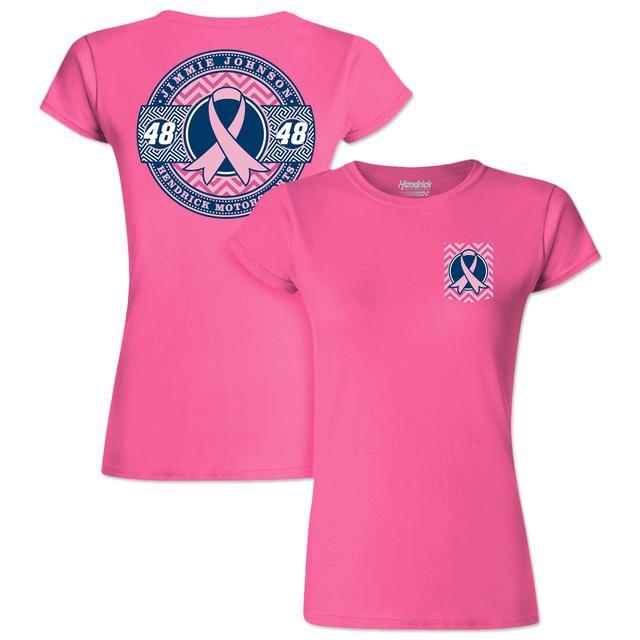 Hendrick Motorsports Jimmie Johnson #48 Breast Cancer Awareness Ladies T-Shirt