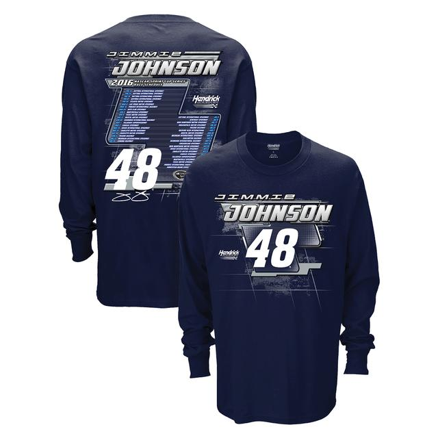 Hendrick Motorsports Jimmie Johnson #48 2016 L/S Schedule T-Shirt