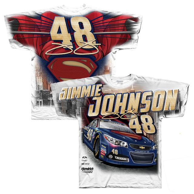 Hendrick Motorsports Jimmie Johnson #48 Superman Total Print T-Shirt