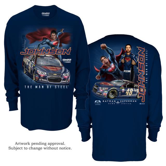 Hendrick Motorsports Jimmie Johnson #48 Superman Long Sleeve Sidekick T-Shirt