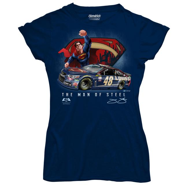Hendrick Motorsports Jimmie Johnson #48 Ladies Superman T-Shirt