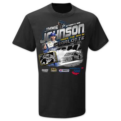 Hendrick Motorsports Jimmie Johnson #48 2016 CHARLOTTE Victory T-shirt