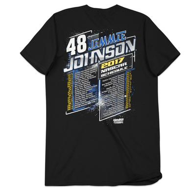 Hendrick Motorsports Jimmie Johnson 2017 Schedule T-shirt