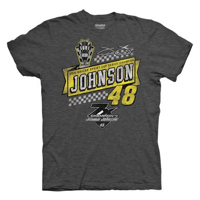 Hendrick Motorsports Jimmie Johnson 2016 NASCAR Champ 1-spot Vintage Fashion  T-shirt