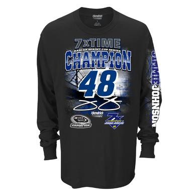 Hendrick Motorsports Jimmie Johnson 2016 NASCAR Champ L/S 2-spot Graphic T-shirt