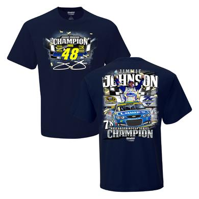 Hendrick Motorsports Jimmie Johnson 2016 NASCAR Champ 2-spot Multi-Champ Graphic  T-shirt