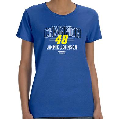 Hendrick Motorsports Jimmie Johnson Seven-Time Champion Ladies T-shirt