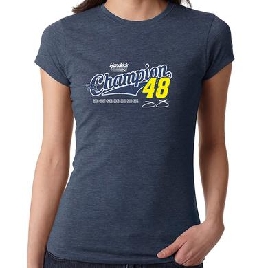 Hendrick Motorsports Jimmie Johnson 7X Champion Ladies T-shirt