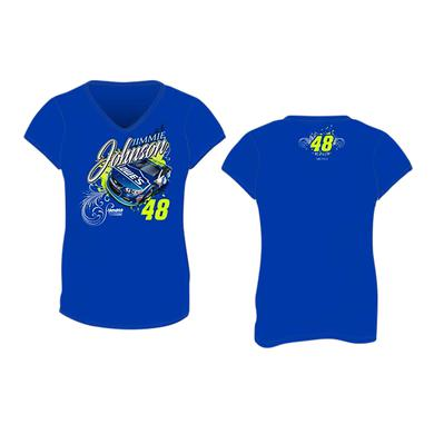 Hendrick Motorsports Jimmie Johnson #48 2017 Lowes Ladies V-neck T-shirt
