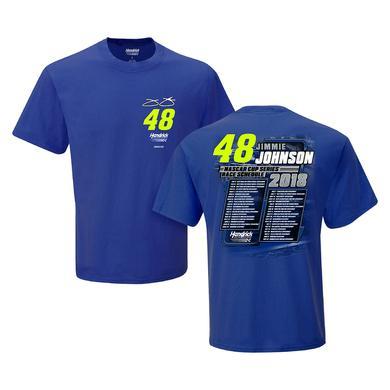 Hendrick Motorsports Jimmie Johnson #48 2018 NASCAR Schedule T-shirt