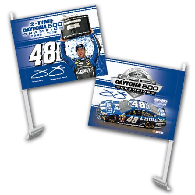 Hendrick Motorsports Jimmie Johnson #48 2013 Daytona 500 Champion Car Flag