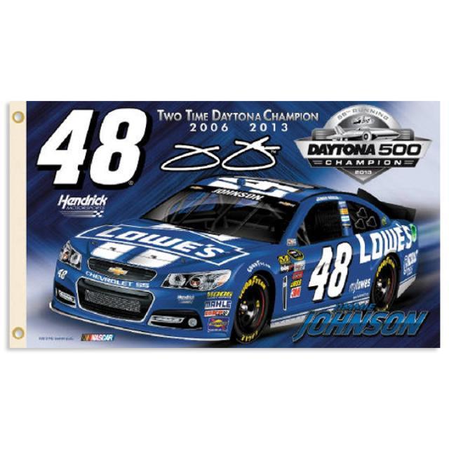 Hendrick Motorsports Jimmie Johnson #48 2013 Daytona 500 Champion 2-Sided Premium 3x5ft Flag